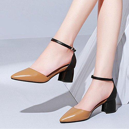 Sandali carrucola Dimensioni Caramel Fibbia da Scarpe Shoe 33 Punta store Tallone Colore Donna H5ZxpnwRq