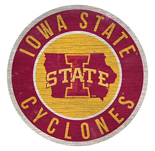 Fan Creations Iowa State Cyclones Sign Wood 12 Inch Round State Design