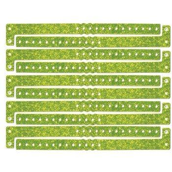 Plastic Sparkle Wristbands (neon yellow) (100/Box) ()