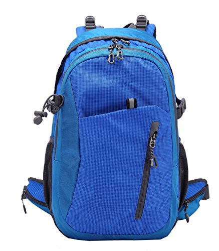 Xin.S28L Mochila De Montaña Profesional Impermeable Al Aire Libre Escalada Mochila Mochila De Viaje Paquete De Gran Día De Ocio Mochila De La Universidad Bolso De Hombro. 3 Colores Blue
