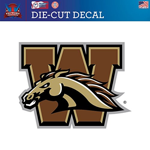 Western Michigan University Broncos Die-Cut Vinyl Decal Logo 2 (Approx (Western Michigan Broncos Wall)