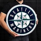Seattle Mariners Lasercut Steel Logo Sign Wall Sign 24 x 24in
