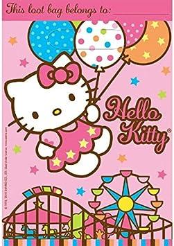 Amazon.com: Hello Kitty Treat Bolsas, Globo Dreams (8 Pack ...