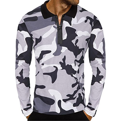 de de sudaderas zarupeng de Camisa manga blusa Gris verano hombre de larga con de bolsillo hombre 2018 calidad Tops capucha de para alta músculo 1 camuflaje IrRRUqYx