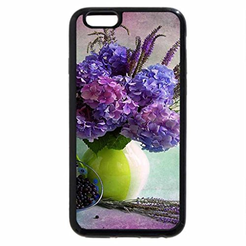 iPhone 6S / iPhone 6 Case (Black) Hydrangeas