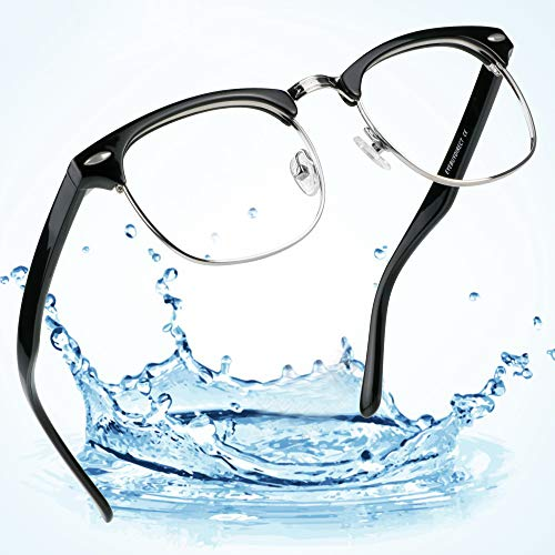 LifeArt Blue Light Blocking Glasses,Computer Reading Glasses,Transparent Lens,Reduce Headaches&Eyestrain,Stylish for Women/Men (Toronto_c1, 0.25 ()
