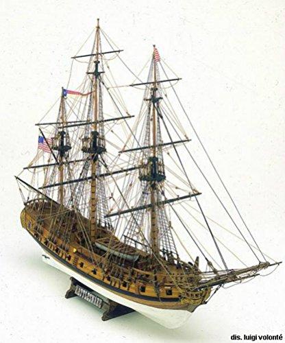 Mamoli-MV36-Rattlesnake-Wood-Plank-On-Bulkhead-Model-Ship-Kit-Scale-164-Length-697-mm-28-Height-463-mm-19