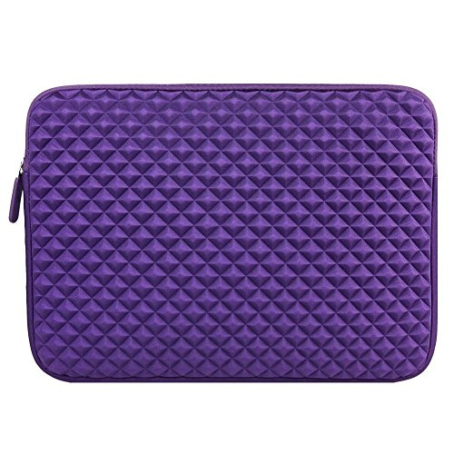 Amazing Accessory (TM) Durable Diamond Shock-Resistant Laptop Sleeve (PURPLE) for Dell Inspiron i5447-6250sLV 14-Inch Touchscreen Laptop