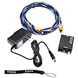 Estone Digital Optical Coaxial Toslink To Analog RCA L/R Audio Converter + Cable OD 5.0