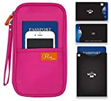 P.travel Passport wallet Oxford Pink with RFID Stop