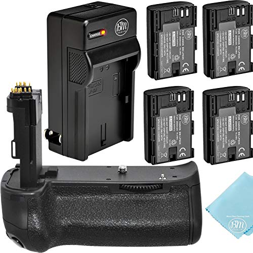 Multi-Power BG-E14 Replacement Battery Grip (Battery Grip + 4 Batteries + Battery Charger)