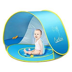 Tenda Spiaggia Bambini, Ceekii Tende per Bambini Pop Up Tenda con Mini Piscina,Tenda per Neonati Pieghevole Portatile… 11 spesavip