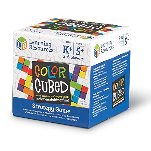 Learning Resources Color Cubed Strategy Game, Brain Boosting Matching 2-6 Players, 40 Pieces, Ages 5+