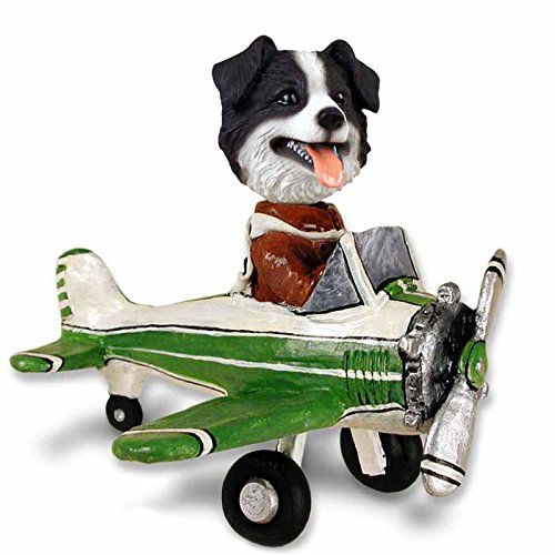 Border Collie Airplane Doogie Collectable - Border Figurine