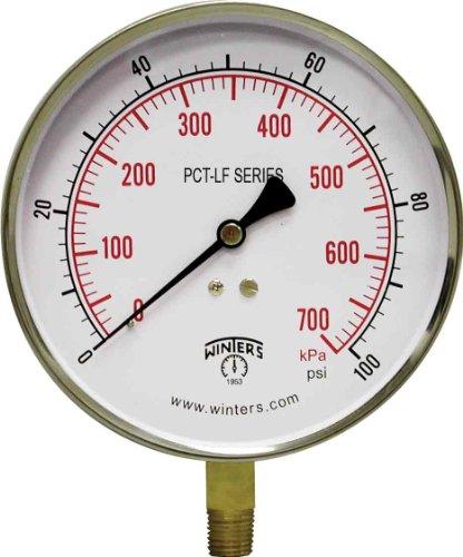 Winters PCT323LF PCT-LF Series Pressure Gauge, 4.5