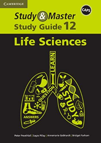 amazon com study master life sciences study guide grade 12 caps rh amazon com life science grade 12 study guide pdf life science grade 12 study guide 2018