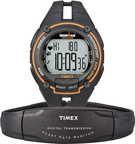 ba8b20e5ba46 Timex Ironman Road Trainer Reloj digital para hombres Pulsómetro   Amazon.es  Relojes