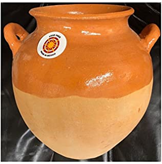 Authentic Barro Mexican Olla Bola Grande Mexicana Para Frijol Frijoles Sopas Boiling Beans Chilis Soup Clay