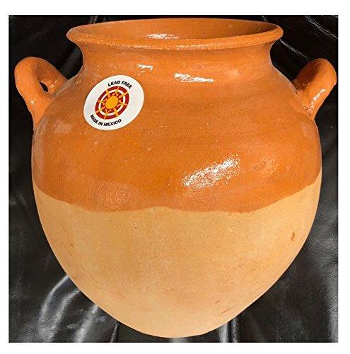 Authentic Barro Mexican Olla Bola Grande Mexicana Para Frijol Frijoles Sopas Boiling Beans Chilis Soup Clay Pot
