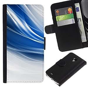 Stuss Case / Funda Carcasa PU de Cuero - El azul remolina - Samsung Galaxy S4 Mini i9190
