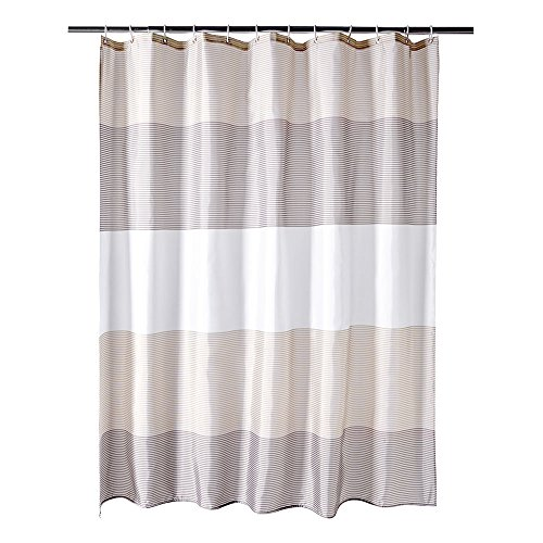 Brown And Gray Shower Curtain   3