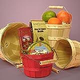 Round Natural Wood Slat Peck Farm Basket 8 Quarts - Baskets - 10 each by Paper Mart