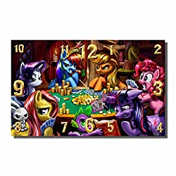 Art time production My Little Pony 17'' x 11'' Handmade Unique Wall Clock - Get Unique décor for Home or Office – Best Gift Ideas for Kids, Friends, Parents