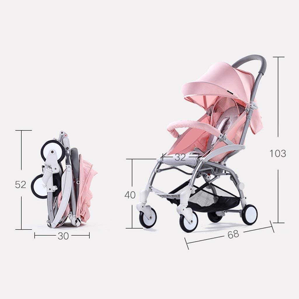 WLD Kinderwagen Ultraleichtes tragbares Klappgerät kann Kinderwagen Kinderwagen sitzen,Rosa Rosa
