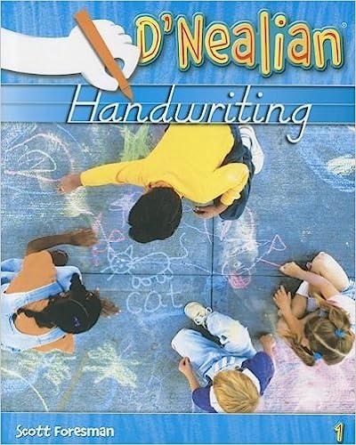 DNEALIAN HANDWRITING 2008 STUDENT EDITION (CONSUMABLE) GRADE 1