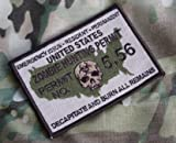 United States Zombie Hunting Permit Hook Loop Multicam Tactical Morale Patch USA Made
