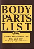 1933 1934 Ford Parts Numbers Book List Catalog Guide Interchange Factory OEM