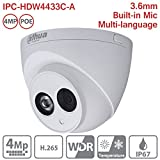 Dahua HDW4433C-A 3.6mm 4MP Dome IP Camera POE IP67 Night Version Outdoor ONVIF H.265 Network Camera International Version