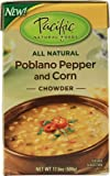 Pacific Natural Foods Organic Chowder Poblano Pepper and Corn -- 17.6 oz