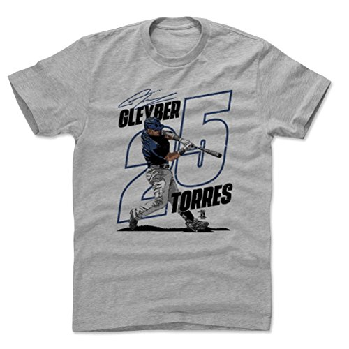 500 LEVEL Gleyber Torres Cotton Shirt XX-Large Heather Gray - New York Baseball Men's Apparel - Gleyber Torres Power -