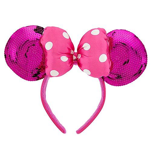Disney Minnie Mouse Ears Headband for Girls - Pink Sequin (Disney Minnie Ears Headband)