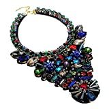 Holylove 3 Colors Women Fashion Statement Necklace Large Costume Jewelry for Night out 1 PC with Gift Box