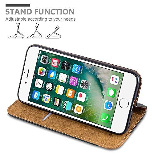 Cadorabo - Funda Book Style Cuero Sintético en Diseño Libro para >                                  Apple iPhone 8 / 7 / 7S                                  <