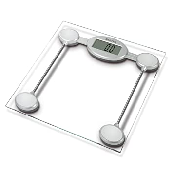 Amazon Com Salter Glass Electronic Bathroom Scale 9018ssv3r Health