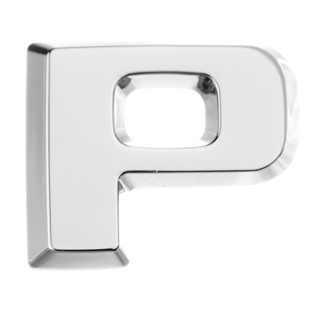 E Luxbling Auto Chrom 3D Buchstabe Silber