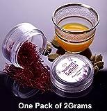 2 Grams Organic Kashmir Saffron Threads - 2Gram Shalimar Brand Saffron