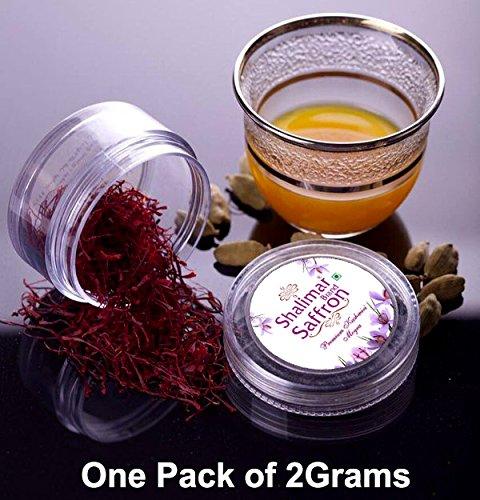 2 Grams Organic Kashmir Saffron Threads - 2Gram Shalimar Brand Saffron by Shalimar Brand Saffron