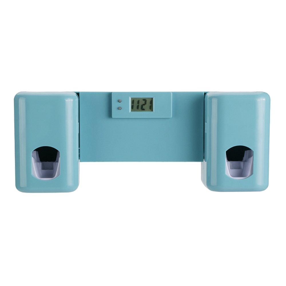 Dispensador automático de pasta de dientes Con 5 soportes para cepillos de dientes, para adultos y niños (Azul): Amazon.es: Hogar
