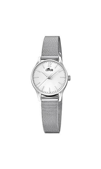 ad5e2a048ed9 Lotus Watches Reloj Análogo clásico para Mujer de Cuarzo con Correa en  Acero Inoxidable 18571 1  Amazon.es  Relojes