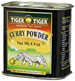 Tiger Indian Spices, Curry Powder, 4.4-Ounce Tins (Pack of 6)