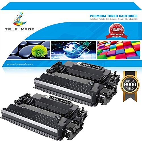 Hp Stand Printer Laserjet (True Image 87A CF287A Toner Compatible for HP CF287A 87A 87X CF287X Toner Cartridge HP M506 Toner for HP Laserjet Enterprise M506dn M506n M506x M506 Pro M501dn M501n MFP M527dn Printer Ink Black -2PK)