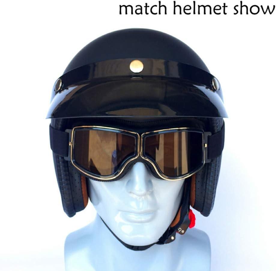 Lunette Moto Cross,Lunette de Protection Sports de Plein air Protection UV400 Anti-bu/ée,Lunettes Moto Vintage pour Homme Femme,Lunette de Moto Cross