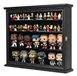 Display Case Cabinet Stand Holder for Mini/Small 4' Bobble Head Wobbler Figurine Collection (Black)
