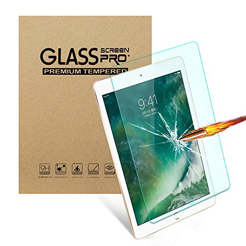 iPad Pro 10.5 Screen Protector, 9H Hardness Ultra Clear [Anti-Scratch] Tempered Glass Screen Protector for for New iPad 10.5 inch Tablet 2017 (1-Pack)