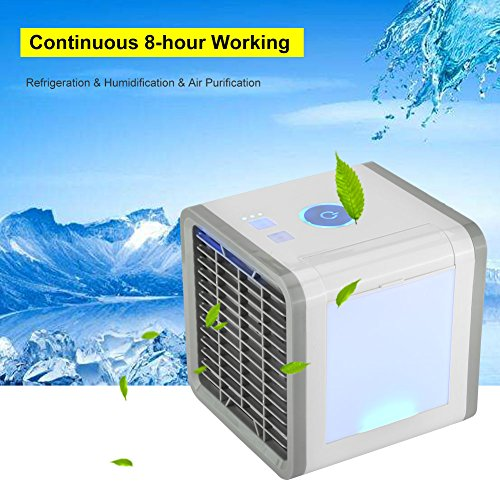 Save Power Desktop Air Cooler Portable Personal Air Conditioner Arctic Air Personal Space Cooler Easy Way to Cool Home Office Desk by Aramox (Image #9)