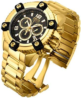 Invicta Men s Reserve Swiss-Quartz Watch with Stainless-Steel Strap, Gold, 16 Model 15827